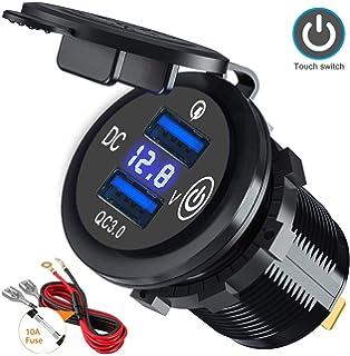 12V-24V LED Anzeige Zigarettenanzünder Spannungsmesser Voltmeter für Auto LKW