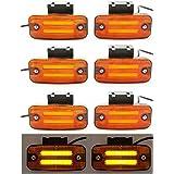 8 luces LED de 24 V de neón laterales con soportes para remolque, chasis, camión, caravana, autobús