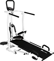 Powermax Fitness MFT-410 4 in 1 Multi-function Manual Treadmill with Jogger, Stepper, Twister and Push Up Bar