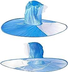 Majik Waterproof Cap Umbrella Hands Free Foldable Headwear Cap Cover Umbrella for Women and Girls, Big, 30 Grams, Pack of 1