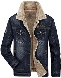 JIINN New Mens Jean Style Western Denim Jacket Parka Classique Hommes Hiver  Chaud Épais Trucker Veste b195a3f5d86