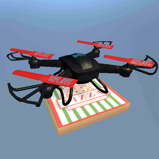Drone Pizza Delivery Simulator (Quadcopter Flight Simulator)