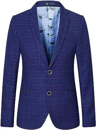 Anguang Mens Designer Blazer Fit Smart Formal Dinner Coat Jacket Waistcoat