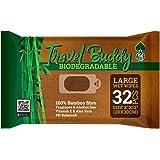 Ace travel Buddy Salviettine Umidificate Grandi Biodegradabili - Perfette per Stare freschi Dopo Palestra, Sport, in Viaggio,