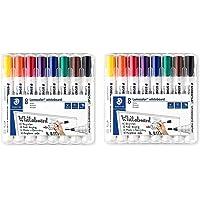 Staedtler Lumocolor 351 WP8 whiteboard, pennarelli per lavagna bianca, punta arrotondata di circa 2 mm di larghezza, set…