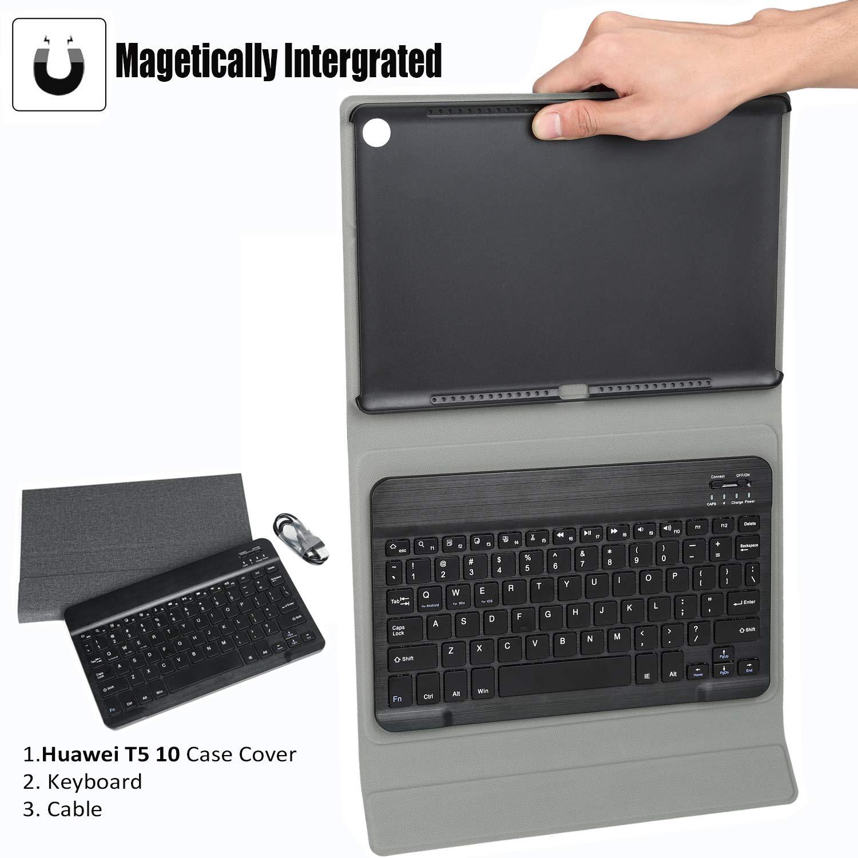 KILISON Huawei Mediapad T5 10 Tastiera Custodia Cover, Slim
