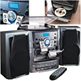 NEOSTAR Compact Music Centre System Turntable CD Twin Cassette Tape Deck Radio USB Port SD Card Slot Hifi System Remote…