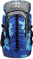 Chris & Kate Unisex Polyester 45L Travel Rucksack Backpack (Blue and Grey)