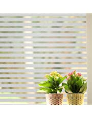 Lukzer 1 Pc Strips Window Glass Film Frosted Window Film Privacy Film for Home Office Bathroom Living Room Kitchen 45 cm x 200 cm