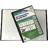 Tiger A3 Black Presentation Display Book with 20 Pockets (40 Views)
