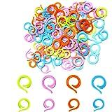 AIEX 120 Pièces Marqueurs de Point à Tricoter, 60 Grands 60 Petits Anneau de Marque de Crochet en Plastique, Anneaux de Point