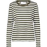 SELECTED FEMME Women's Slfstandard Ls Tee Str Noos T-Shirt
