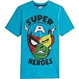 Marvel Camiseta Niño, Camisetas Niño Manga Corta de Los Vengadores Iron Man Capitan America Hulk y Spider Man, Ropa Niño 100%