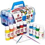 TBC The Best Crafts Acrylic Paint Set Kit, 10 Bottles(20 fl. Oz) Acrylic Paint for Kids with Paint Brushes & Palette, Ideal S