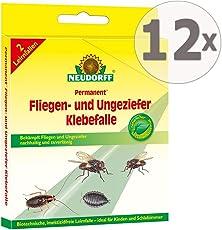 Neudorff Permanent Fliegen- und Ungeziefer Klebefalle Gardopia Sparpakete + Zeckenzange mit Lupe