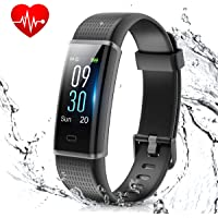 Muzili Smart Band IP68 Waterproof Fitness Tracker with Heart Rate Sleep Monitor 14 Sport Mode Activity Tracker Color Screen Pedometers Calorie Counter Call Messages Reminder for Men Women