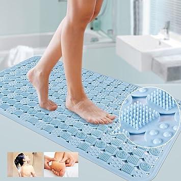 homdsim tapis de douche sans odeur solide antidrapant tapis de bain de scurit pour baignoire de salle de bain avec ventouses antibactrien 864 x 584 cm - Antiderapant Salle De Bain