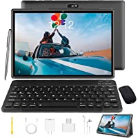 Tablet 10 Zoll Android 9.0 Tablet PC Mit Tastatur 4G LTE SIM, 3 GB RAM + 32 GB ROM, Quad-Core…