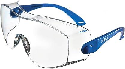 Dräger Schutzbrille X-pect 8120, Geeignet für Brillenträger, Sicherheitsbrille für Baustelle, Labor und Fahrradfahren, Kratzfest und Beschichtet