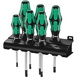 Wera 05028062001 Kraftform Plus 367-6 Torx Screwdriver Set and Rack, 6-Piece