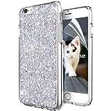 Coque iPhone 6S Plus,Coque iPhone 6 Plus,OKZone Mince Étui en silicone souple Paillette Strass Brillante Glitter de Luxe,TPU Housse Etui de Protection pour Apple iPhone 6 Plus/iPhone 6S Plus (Argent)