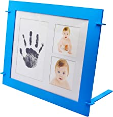 DecuT Baby Handprint & Footprint Photo Frame Kit Included Safe for Baby Clean Touch Ink pad, Unique Baby Shower Gifts Set, Memorable Keepsake Box Decorations for Room Wall Or Nursery Décor