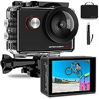 Apexcam Pro Action Cam 4K 20MP Sportkamera WiFi Unterwasserkamera 2.4G Fernbedienung Wasserdicht 40m 2.0 Zoll LCD…