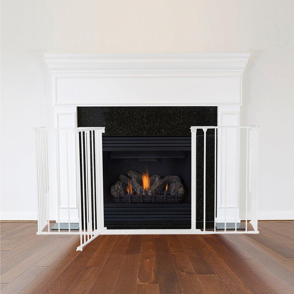 safetots multi panel fire surround fireguard white all widths fire
