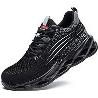 TimGoss Chaussure de Securité Homme Embout Acier Protection Légère & Respirante Chaussures de Travail Anti-Perforation…