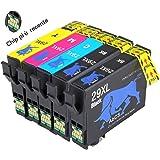 Abcs Printing 29XL Compatibile per Cartucce Epson 29XL 29 Epson Expression Home XP-235/XP-245/XP-247/XP-332/XP-335/XP-342/XP-345/XP-432/XP-435/XP-442/XP-445 (2 Nero, 1 Ciano, 1 Magenta, 1 Giallo)