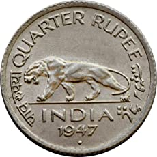 quarter rupee 1947 rare coin-collection item-old coin