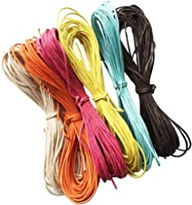 Segolike 10 Meter Waxed Cotton Cords Strings Ropes for DIY Necklace Bracelet Craft Making 6 Random Colors #4