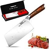 Aroma House Couteau du Chef Chinois-17cm Couperet de Cuisine,Feuille de Boucher Couteau Couteaux de Cuisine Acier Inoxydable,