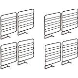 mDesign séparateur armoire pour la garde-robe (lot de 8) – système d'aménagement placard en métal pratique pour la garde-robe