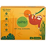 Allter Super Dry, Quick Absorb and Eco-Friendly Organic Bamboo Diapers (Large, White) -24 Count
