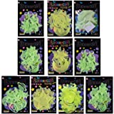 Birthday Popper Glow in The Dark Space Theme Radium Sticker + Ready Gift Wrapped + Thank You Card (Set of 10) Birthday Party