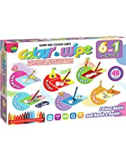 Applefun 6 in 1 Series 2 Color and Wipe Crayons, Multi Color