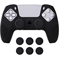 eXtremeRate PlayVital Cover Controller Skin per PS5 Custodia Protettiva in Silicone Antiscivolo per DualSense con 6…