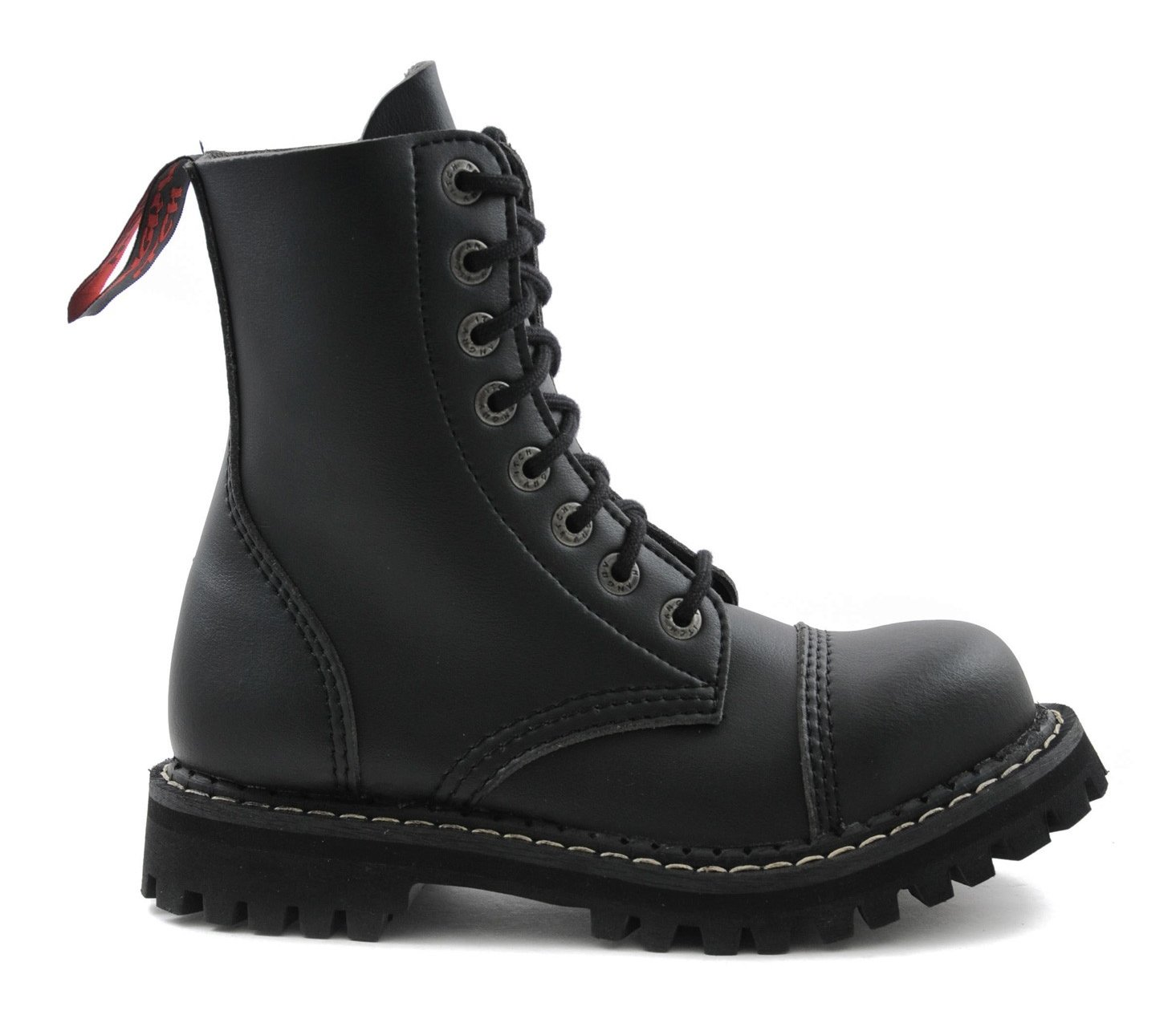Mit Eu Ranger Schwarze Made 8 Stiefel Army Vegane 36 Itch Stahlkappe In 48 Loch Punk Armee Angry Gothic EIbeDY29WH