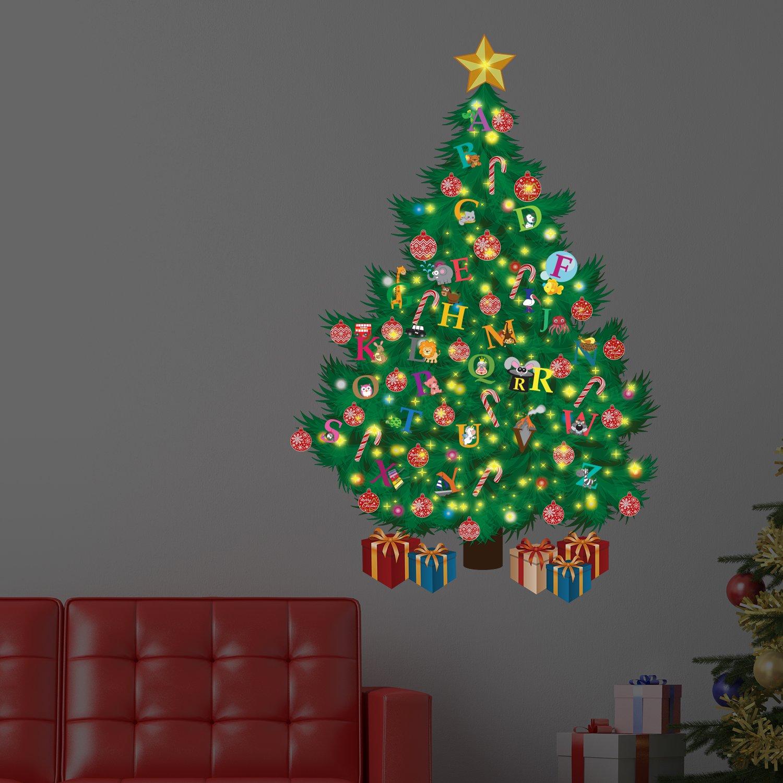 Wallflexi navidad decoraci n pegatinas de pared rbol de - Decoracion de arboles navidenos para ninos ...