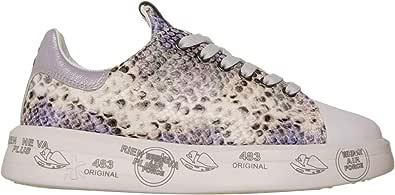 PREMIATA Scarpe, Sneaker Belle 5150 Donna, Pelle, Stampa Pitonata, Grigio (Numeric_37)