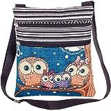Outflower Europäische amerikanische Neue Frauen Tasche/Jacquard Stickerei Linie Eule Einkaufstasche/Casual Mode Schulter lein