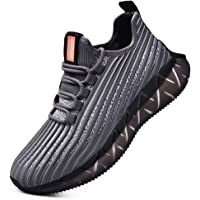 SANNAX Mens Trainers Fashion Sneakers Casual Breathable Sports Shoes for Running Walking Gym