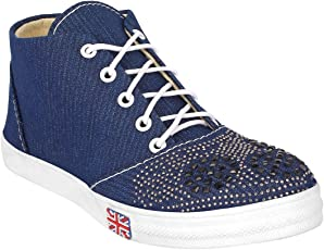 Just Lady Blue Casual Shoes for Women (JUSTLADY013)