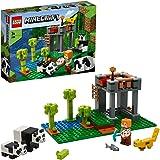 LEGO 21158 Minecraft Het pandaverblijf Bouwset met Alex en dierenfiguren, speelgoed voor kinderen van 7 jaar en ouder