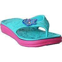 Girls Kids Lightweight Butterfly Toe Post Slip On Summer Beach Sandals Mules Flip Flops UK Sizes 10-2/EU 30-35