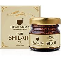Upakarma Pure Ayurvedic Raw Shilajit/Shilajeet Resin - 15 Grams - Pack of 1