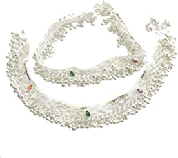 Charms Anklet for Women (Silver)(cr0209eee)