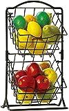 SKAFA Iron Storage Basket with 2 Tiers, 56X31X33 cm, Black