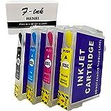 F-ink Sostituzione cartuccia d'inchiostro ricaricabile per Epson 603 o 603XL, utilizzo con Expression Home XP-3100 XP-2105 XP